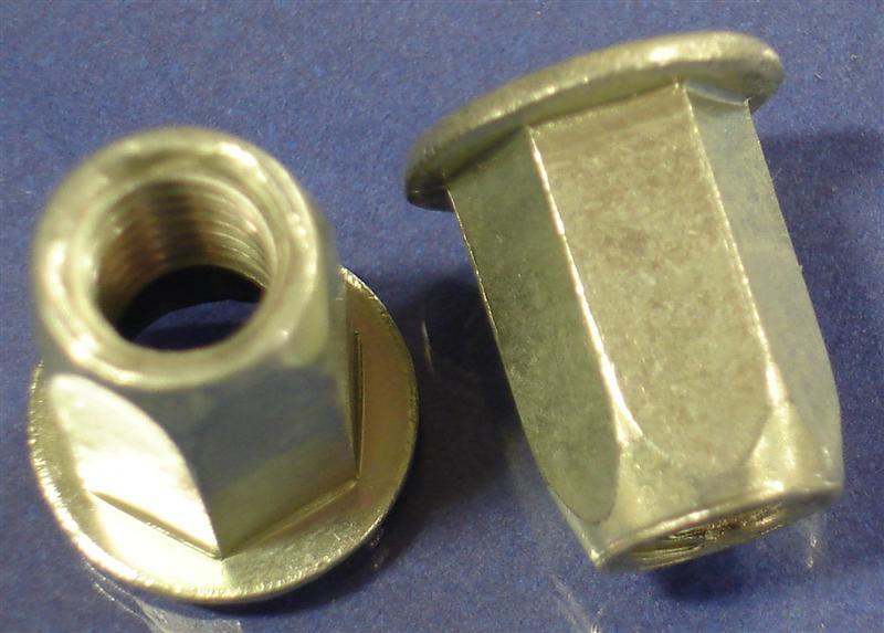 3/8-16 Full-Hex Rivet Nut, Large Flange - JHP Fasteners