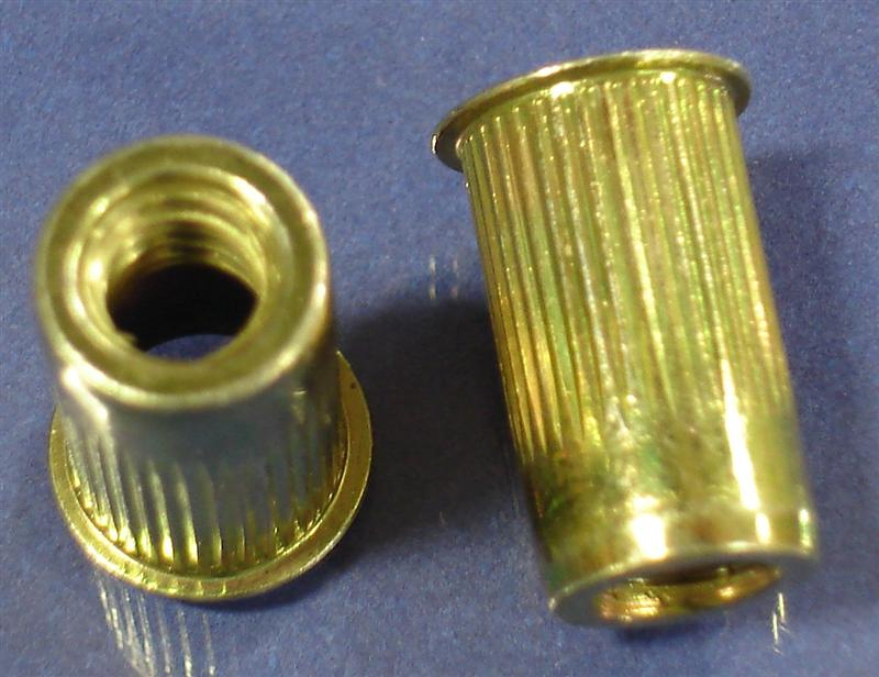M6 X 1 00 Ribbed Blind Rivet Nut Small Flange