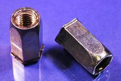 Full-Hex Rivet Nut, Small Flange