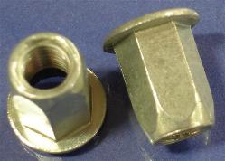 Full-Hex Rivet Nut, Large Flange