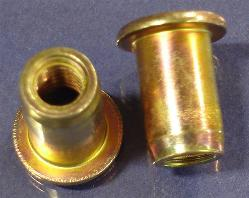 Rivet Nut, Large Flange, Smooth Body