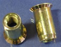 M12 x 1.75 Rivet Nut, Countersink, Smooth Body