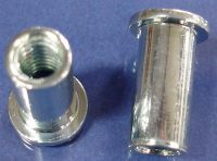 1/4-20 Blind Rivet Nut, Large Flange, Smooth Body