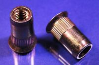 M6 x 1.00 Ribbed Rivet Nut, Countersink